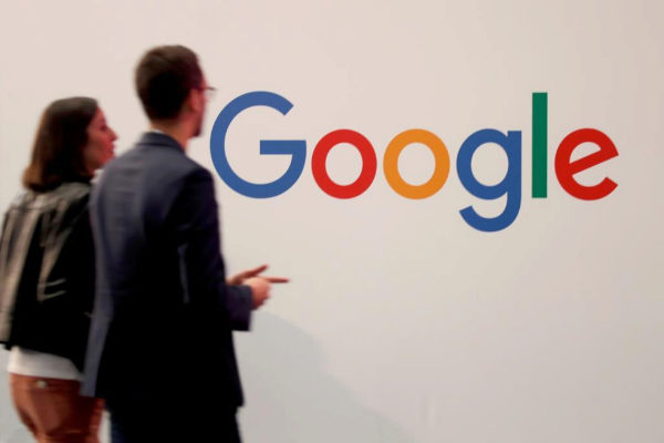 FILE PHOTO: Logo of <HIT>Google</HIT> is seen at VivaTech fair in Paris