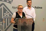 La concejala de Justicia Social, Feminismo y LGTBI del Ayuntamiento de Palma, Sonia Vivas (UP), ayer.