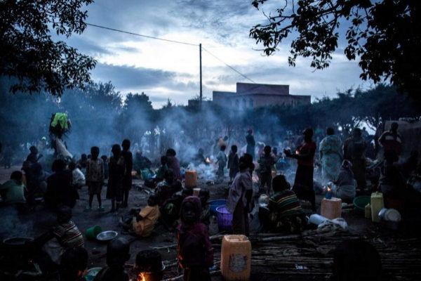 Campamentos de desplazados en Drodro (Congo).