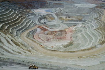 Imagen de la corta de la mina Las Cruces facilitada por la empresa.