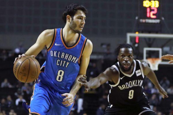 Álex Abrines, en su última temporada en la NBA.