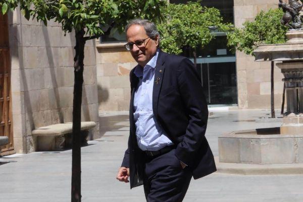 Antonio Moreno 04.07.2019.Barcelona Cataluña. El president <HIT>Quim</HIT> <HIT>Torra</HIT> se reune con JxCat en la Generalitat.