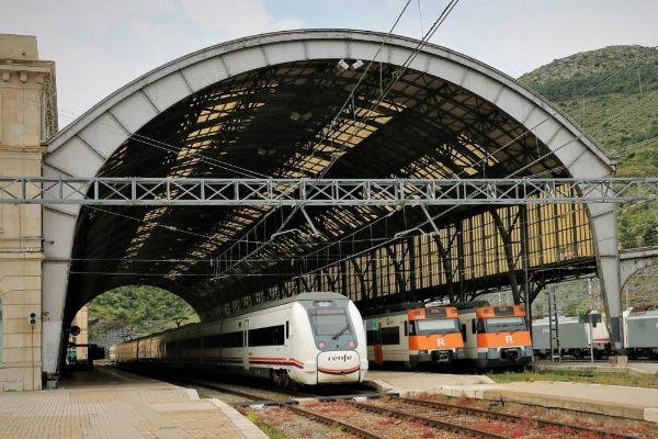 Tren de cercanías Renfe en Cataluña.