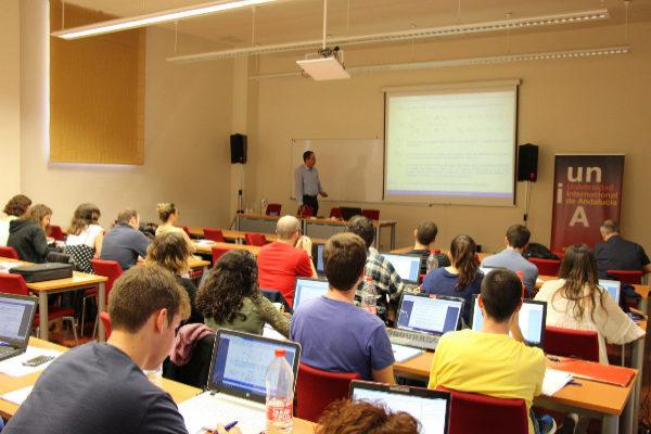 Un pasado acto académico celebrado en la Universidad Internacional de Andalucía.