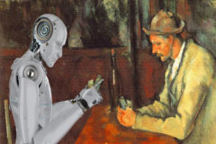 Montaje a partir del cuadro 'Los jugadores de cartas' ('Les joueurs de cartes'), de Paul Cézanne.