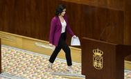 Díaz  Ayuso en la Asamblea de Madrid.