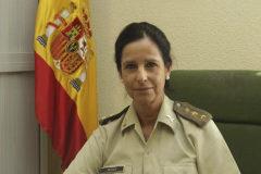 Patricia Ortega, en una imagen con los galones de coronel.