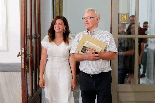 Sandra Gómez y Joan Ribó.
