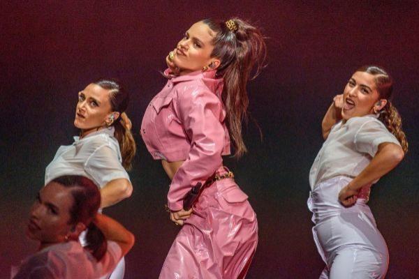 Rosalia durante su actuación en la segunda jornada del Bilbao BBK Live.