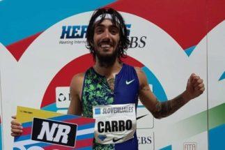 Fernando Carro, este viernes, tras el meeting.
