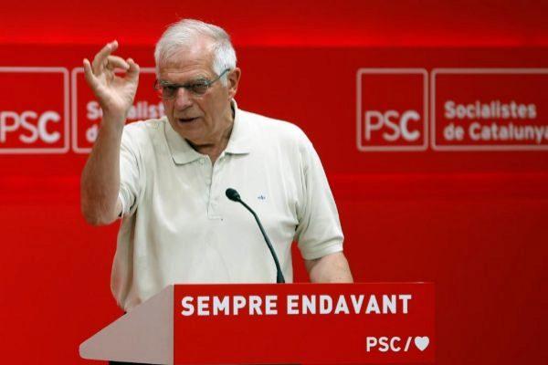 Josep Borrell, durante su intervención en la escuela del PSC.