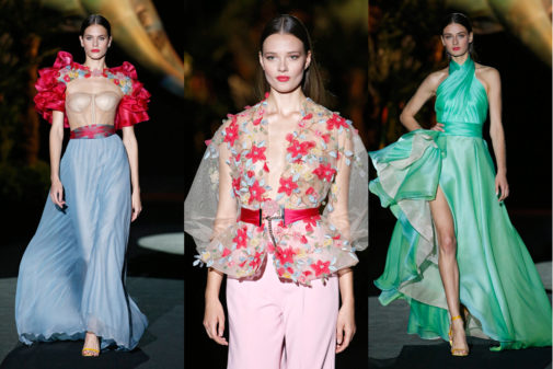 Tres de los modelos de la colección de Hannibal Laguna.