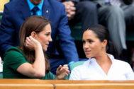 Kate Middleton y Meghan Markle juntas en el torneo de Wimbledon