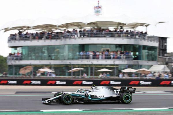 Bottas, durante la sesión clasificatoria en Silverstone.