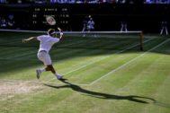 Federer, durante su semifinal ante Nadal.