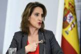 Teresa Ribera durante la rueda de prensa tras un Consejo de Ministros