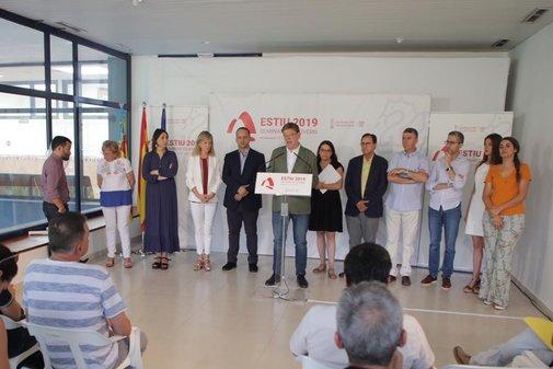 Los miembros del Gobierno Valenciano reunidos en Montanejos.