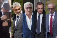 De izqda. a dcha., José Manuel Villarejo, Rafael Redondo, Carlos Salamanca, Enrique García Castaño y Antonio Bonilla.