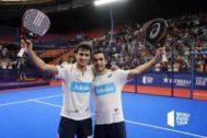 Ale Galán y Pablo Lima, ganadores en Valencia.