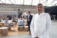 El premio Nobel de la Paz, Kailash Satyarthi, durante la entrevista en Bruselas.