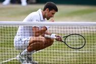 Djokovic, tras ganar el título a Roger Federer.