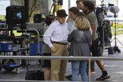 Woody Allen, en su primera jornada de rodaje en San Sebastián.