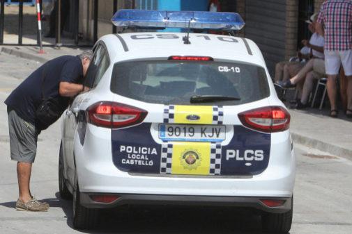 Uno de los vehículos de la Policía Local de Castellón.