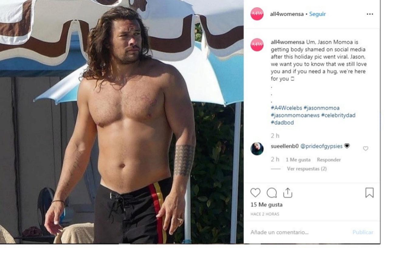 El actor, en la imagen que provocó la polémica en las redes.