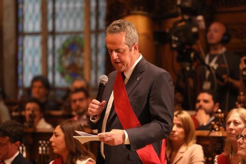 Joaquim Forn, durante el pleno