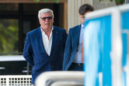 El comisario Carlos Salamanca, a su llegada a la Audiencia Nacional, el pasado 12 de julio.