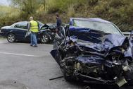 Accidente registrado en Bizkaia