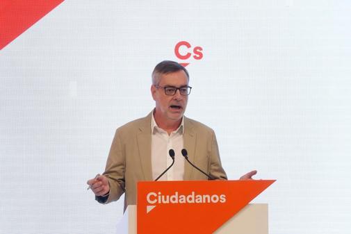 José Manuel Villegas, en rueda de prensa, tras la Ejecutiva de Ciudadanos