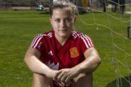 Pina, tras un entrenamiento de la selección en Las Rozas