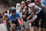 Mikel Landa, durante la sexta etapa del Tour.