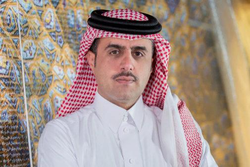 El artista Abdulnasser Gharem, autor de la recreación de la escena del crimen.