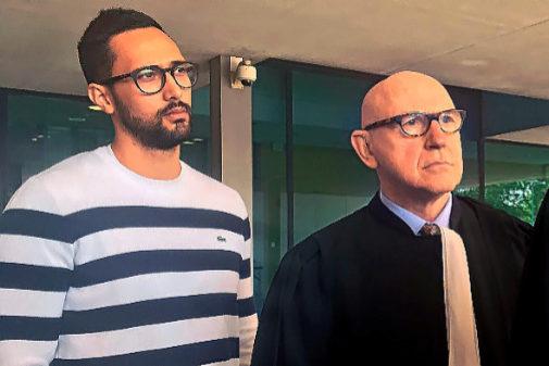 Valtònyc con su abogado Paul Beckaert