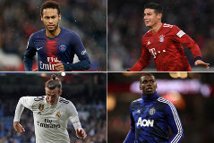 Neymar, James Rodríguez, Bale y Pogba.