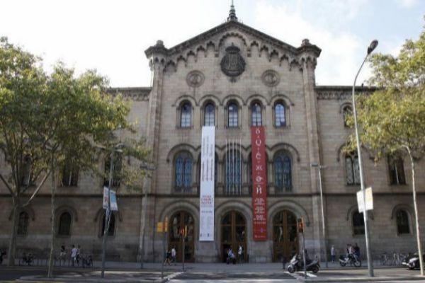 Fachada de la Universidad de Barcelona.
