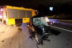 Muere un kamikaze que iba a 200 km/h  en la autovía A-8 y deja cinco heridos