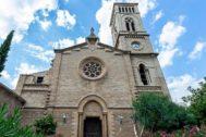 Estado actual de la Iglesia de Sant Magí de Palma con la única torre construida.