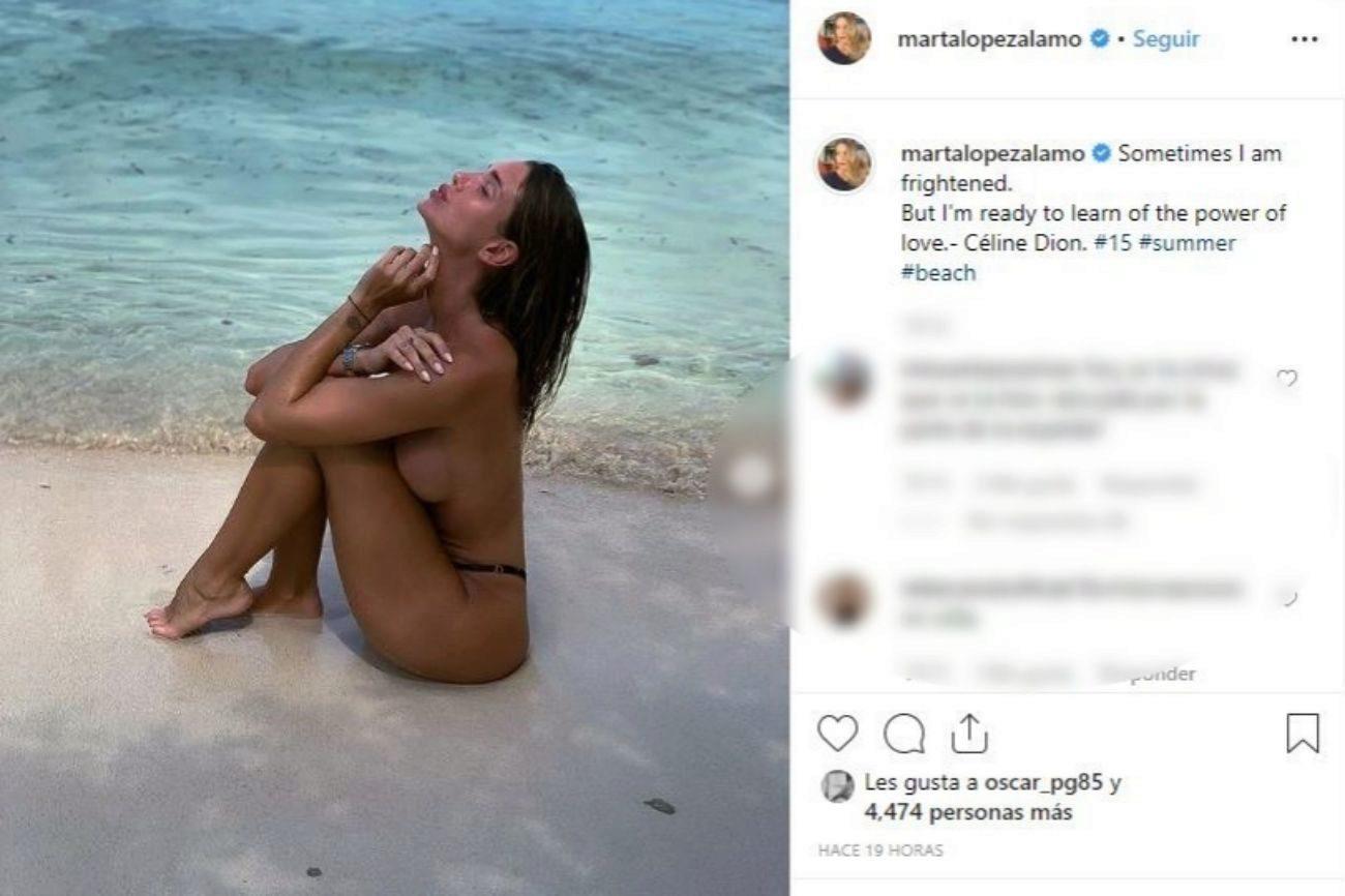 Marta López (22), la influencer y novia de Kiko Matamoros,...