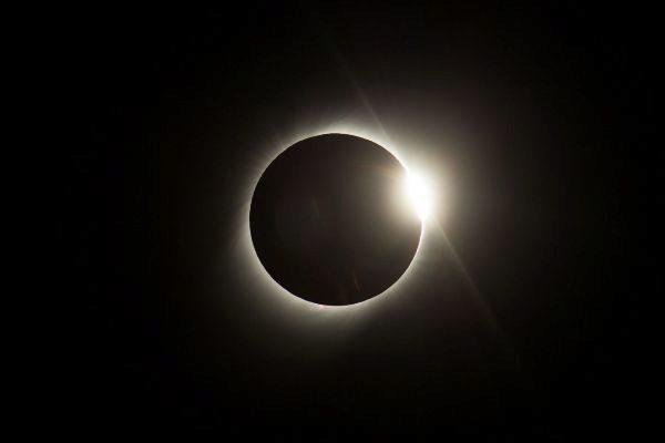 Imagen del eclipse solar de principios de julio