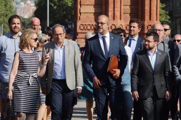 <HIT>Antonio</HIT> <HIT>Moreno</HIT> 16.07.2019 Barcelona Cataluña. El conseller Miquel Buch acompañado por Torra y el Govern ,declara en el Tribunal Superior de Justicia de Cataluña como investigado por el 1-O