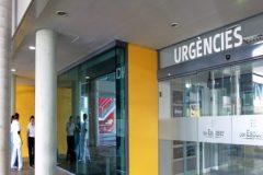 Puerta de entrada de Urgencis del hospital Son Espases de Palma donde tuvo lugar la última agresión este domingo.