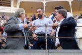 El líder de Vox, Santiago Abascal en la Feria de San Isidro 2019 en...