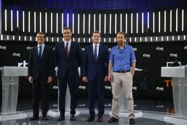 Sánchez, Casado, Rivera, Iglesias
