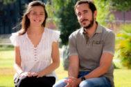 Paula Hidalgo y David Gallego, de la Universidad Pablo de Olavide.