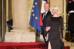 El ministro francés de Transición Ecológica, François de Rugy asiste a una cena oficial con su mujer, Severine Servat.