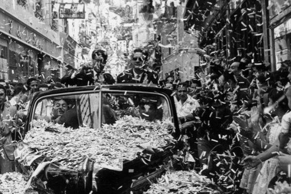 La recepción a Bahamontes tras ganar el Tour en 1959.