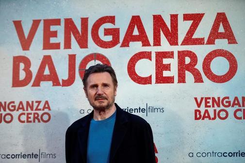 Liam Neeson en la presentación de 'Venganza bajo cero' en Madrid.